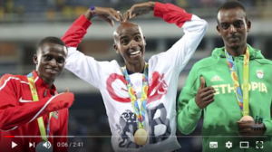 Mo Farah wins gold after fall