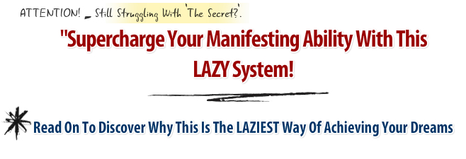 lazy person's website headline graphic