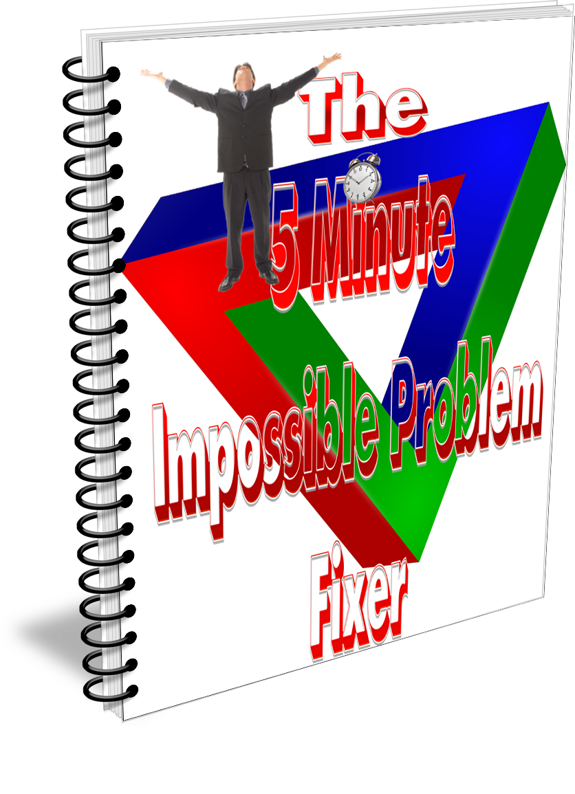 impossible problem fixer lead magnet spiral bound ecover 3D