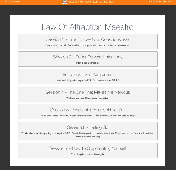 LOA Maestro menu